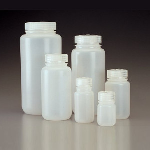 Nalgene® 312189-0004 4 oz (125mL) Wide Mouth HDPE Bottles, case/500