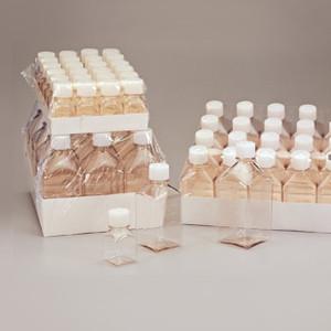 Nalgene® 322020-0125 4 oz (125mL) PETG Square Media Bottle with closure, case/96