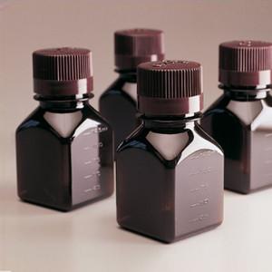 Nalgene® 4 oz PETG Square Media Bottles, case/96