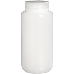 Nalgene® 332189-0032 Economy Bottles, Bulk-Packed, Wide-Mouth, HDPE, 32 oz (1L), case/50