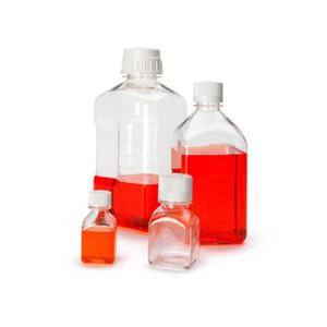 Nalgene® 342020-0250 250mL PETG Square Media Bottles in Shrink Wrap, Sterile, case/60