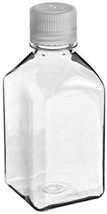 Nalgene® 342023-0125 125mL Square Media Bottles, Septum Cap, Sterile, case/96