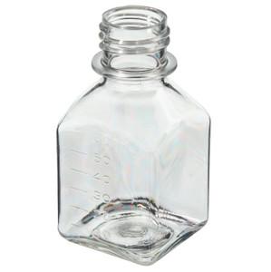 Nalgene® 342024-0060 60mL PETG Sterile Square Media Bottles, No Caps, case/200