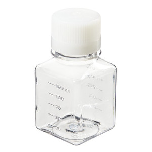 Nalgene® 342040-0125 125mL PET Square Media Bottles, Sterile, case/96