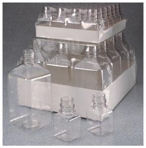 Nalgene® 342044-0125 125mL PET Square Media Bottles, No Caps, Sterile, case/96