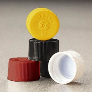 Nalgene® 342158-0025 HDPE Lined Closures (Sterile Caps) 20-415 for Serum Vials, Red, case/2000