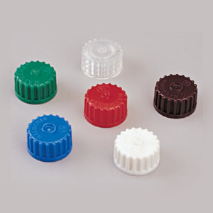 Nalgene® Red Polypropylene Caps, 12mm x 22mm, case/2000