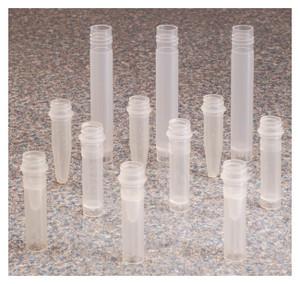 Nalgene® 362800-0005 Micro Packaging Vials, 0.5mL, PPCO, No Caps, case/1000