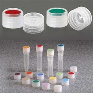 Nalgene® 362820-0110 11mm Caps for Micro Vials, PPCO with Color Coded Insert, case/1000