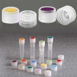 Nalgene® 362830-0110 11mm Caps for Micro Vials, HDPE with Color Coded Insert, case/1000