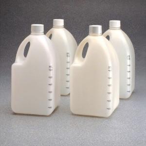 Nalgene® HDPE Square Biotainer Bottles, Sterile, 4 Liter, case/24