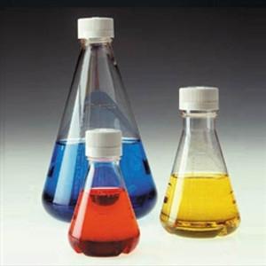 Nalgene® 4116-0250 Single-Use Baffle Bottom Lab Flasks, Sterile, Vented Closure, PETG, 250mL, case/12