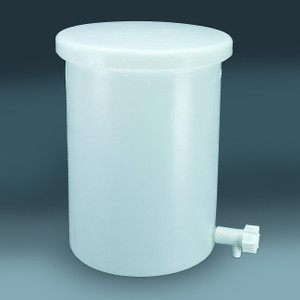 Nalgene® Lab Tank with Cover and Spigot, Lightweight, LLDPE, 30 gal