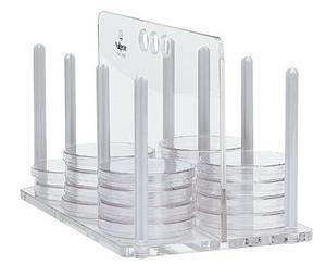 Nalgene® 5920-0060 Petri Dish Rack, Polycarbonate (60) 100mm, case/2
