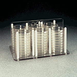 Nalgene Petri Dish Rack, Polycarbonate (56) 60mm, case/2