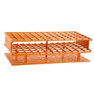 Nalgene® 5970-0116 Test Tube Rack, Autoclavable, Orange, 16mm tubes, case/8
