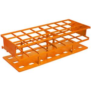Nalgene® 5970-0130 Test Tube Rack, Autoclavable, Orange, 30mm tubes, case/8