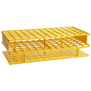 Nalgene® 5970-0216 Test Tube Rack, Autoclavable, Yellow 16mm tubes, case/8