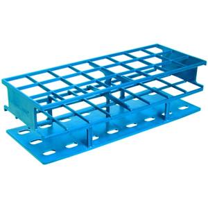 Nalgene® 5970-0330 Test Tube Rack, Autoclavable, Blue, 30mm tubes, case/8