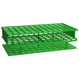 Nalgene® 5970-0413 Test Tube Rack, Autoclavable, Green, 13mm tubes, case/8