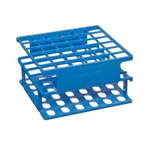 Nalgene® 5972-0316 Test Tube Half-Rack, Autoclavable Unwire, Blue, 16mm, case/8