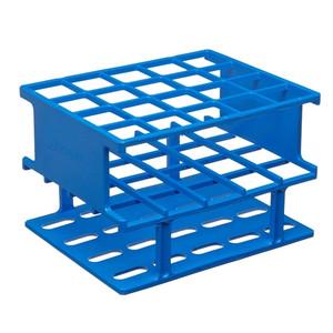 Nalgene® 5972-0325 Test Tube Half-Rack, Autoclavable Unwire, Blue, 25mm, case/8