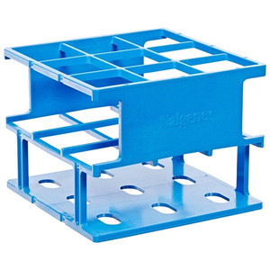 Nalgene® 5972-0330 Test Tube Half-Rack, Autoclavable Unwire, Blue, 30mm, case/8