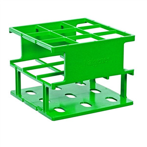 Nalgene® 5972-0430 Test Tube Half-Rack, Autoclavable Unwire, Green, 30mm, case/8