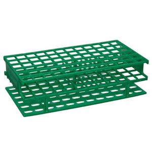 Nalgene® 5976-0413 Test Tube Rack, Unwire, Green, PP 13mm, case/8