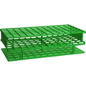 Nalgene® 5976-0416 Unwire Test Tube Rack, Green PP, 16mm, One-Piece, case/8