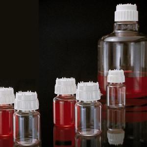 Nalgene® 30mL Polycarbonate Validation Bottles, White Polypropylene Caps, case/30