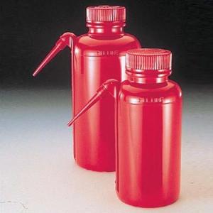 Nalgene® DS2408-0250 Wash Bottles, Unitary, Red, LDPE, 8 oz (250mL), case/4