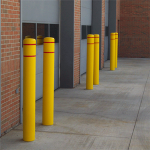 "Bollard Post Sleeve, 7"" x 72"", UV Fade Resistant, Choose Color"