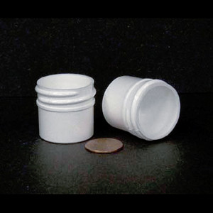 Bulk 0.25 oz 33mm White PP Jars, 10mL (no caps), case/2783