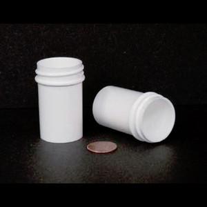 Bulk 7/8 oz 33mm White PP Jars, 25mL (no caps), case/1452