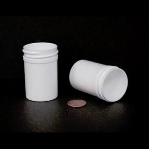 Bulk 1 oz 38mm White PP Jars, 30mL (no caps), case/950