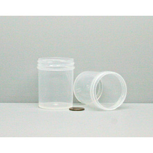 Bulk 2 oz 48mm PP Jars, 60mL (no caps), case/585