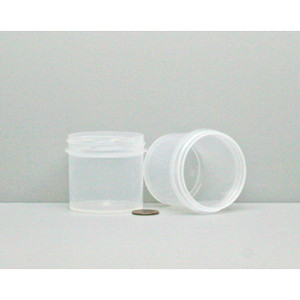 Bulk 3 oz 58mm PP Jars, 80mL (no caps), case/432