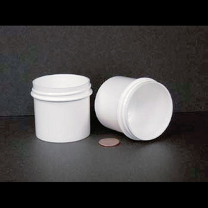 Bulk 3 oz 58mm White PP Jars, 80mL (no caps), case/432