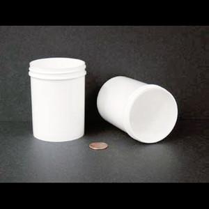 Bulk 6 oz 63mm White PP Jars, 175mL (no caps), case/504