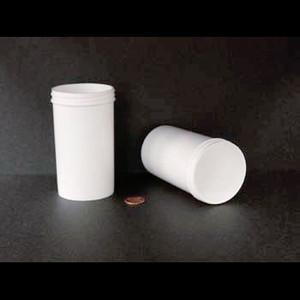 Bulk 8 oz 63mm White PP Jars, 225mL (no caps), case/378