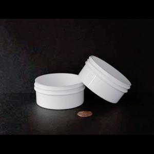Bulk 2 oz 70mm White PP Jars, 60mL (no caps), case/960