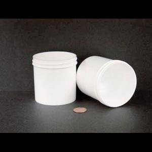Bulk 6 oz 70mm White PP Jars, 175mL (no caps), case/432