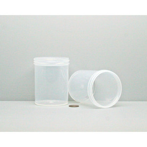 Bulk 8 oz 70mm PP Jars, 250mL (no caps), case/336