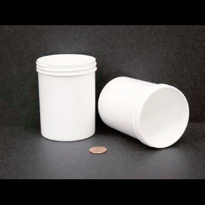 Bulk 8 oz 70mm White PP Jars, 250mL (no caps), case/336
