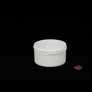 Bulk 4 oz 83mm White PP Jars, 125mL (no caps), case/525