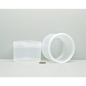 Bulk 6 oz 83mm PP Jars, 200mL (no caps), case/420