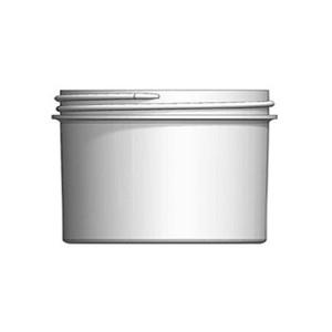 Bulk 6 oz 83mm White PP Jars, 200mL (no caps), case/420