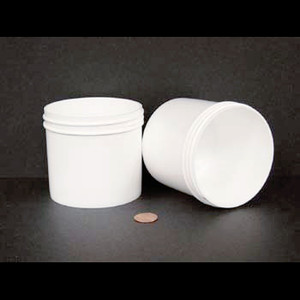 Bulk 12 oz 89mm White PP Jars, 350mL (no caps), case/240