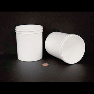 Bulk 16 oz 89mm White PP Jars, 500mL (no caps), case/180